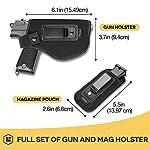 Procase Holster Discret + Porte-Chargeur, Holster de Ceinture pour Pistolet, Étui pour Arme à Feu, Inside Souple très… 7
