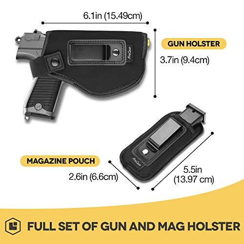 Procase Holster Discret + Porte-Chargeur, Holster de Ceinture pour Pistolet, Étui pour Arme à Feu, Inside Souple très… 2