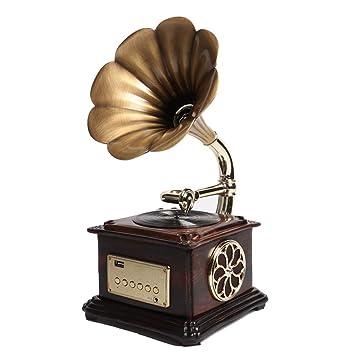 Zyy Tocadiscos Estilo Fonógrafo Vintage, Grabación De Vinilo A MP3 ...