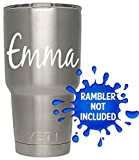 Personalized Name Decal / Tumbler / Custom Vinyl decal / Vehicle graphics sticker (White)