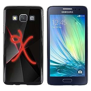 TopCaseStore / la caja del caucho duro de la cubierta de protección de la piel - X - Samsung Galaxy A3 SM-A300