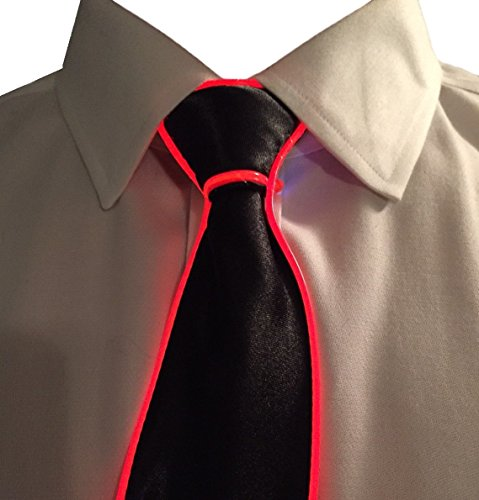 GlowTies LED Light Up Ties Costume Accessory for New Years Rave Party