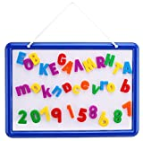 EduKid Toys Magnetic Whiteboard with 109 Alphabet Letters & Numbers - ABC Magnets & Dry Erase Marker - 14.5 x 10 Drawing Art White Board Educational Kids Toy - By