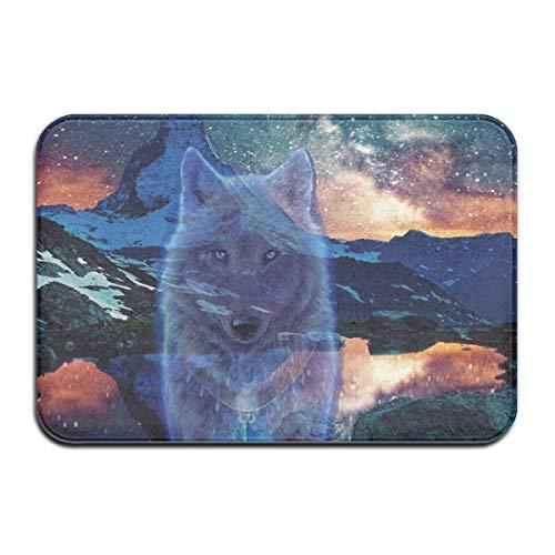 (HomeeeLr Matterhorn Wolf Durable Indoor Outdoor Waterproof Doormat, Entry Rug Mat Shoe Scraper Carpet)