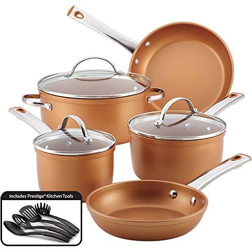 Farberware 12-Piece Colortech Aluminum Nonstick Cookware Set