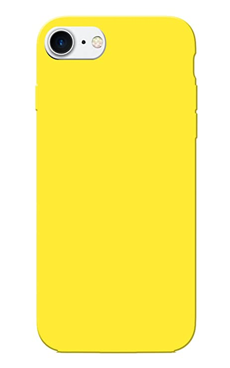 sports shoes 014a3 17c3b iPhone 7 Case, Plain Yellow Slim Fit Hard Case Cover: Amazon.in ...