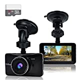 "OldShark 3"" 1080P Dash Cam with 32GB Card, 170 Wide Angle Car On Dash Video, G-Sensor, Night Vision, WDR, Parking Guard, Loop Recording Dashboard Camera Recorder (Electronics)"