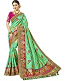 Indian Ethnicwear Art Silk Green Coloured Fancy Saree