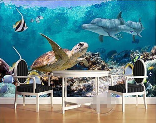 Weaeo 3D壁紙カスタム壁画不織布壁ステッカー3Dオーシャン壁紙タトゥーテレビの壁壁3D壁紙の壁紙-120X100Cm