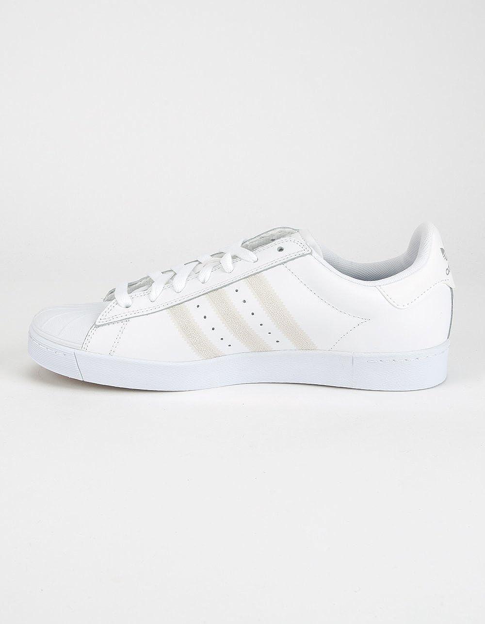 adidas Originals Men's Superstar Vulc ADV Running Shoe Ftwwht/Ftwwht/Silvmt