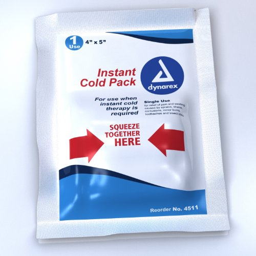 Instant Ice - Dynarex Cold Pack 4 x 5, 24 count