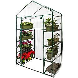 "U.S. Garden Supply Premium Walk-In 4 Tier Greenhouse, 56"" Wide x 29"" Deep x 77"" High - Grow Seeds & Seedlings, Tend Potted Plants"
