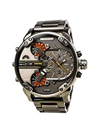 Diesel Watches DZ7315 The Daddies Chronograph Four Time Zone Dial Gunmetal Ion-plated Men's Watch
