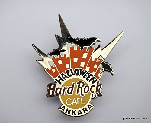 Ankara Hard Rock Cafe Halloween 1998 Skyline With Bats Pin