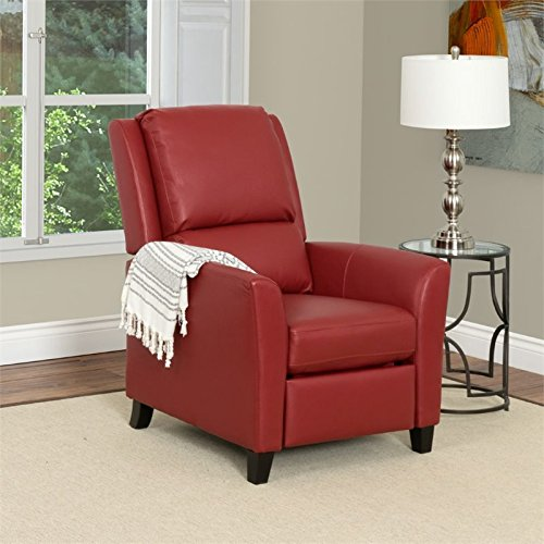 Red Leather Recliners (CorLiving LZY-553-R Kate Leather Recliner Red)