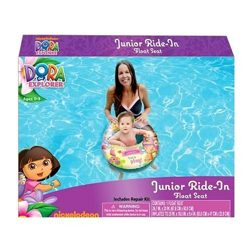 Dora The Explorer Ride On - Dora the Explorer Baby Toddler Ride-on Float Seat - Swim Raft, Ring, Pool, Beach by What Kids Want