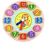 HUHU833 Cartoon Animal Educational Toys For Children Wooden Beaded Digital Clock (Lion)