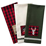 "DII Cotton Christmas Holiday Dish Towels, 18x28"" Set of 3, Decorative Oversized Kitchen Towels, Perfect Home and Kitchen Gift-Christmas Fireside"