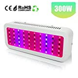 300W LED Grow Light Full Spectrum, Derlights Greenhouse Light with UV and IR, Grow Light for Indoor Plant Garden Veg and Flower Review