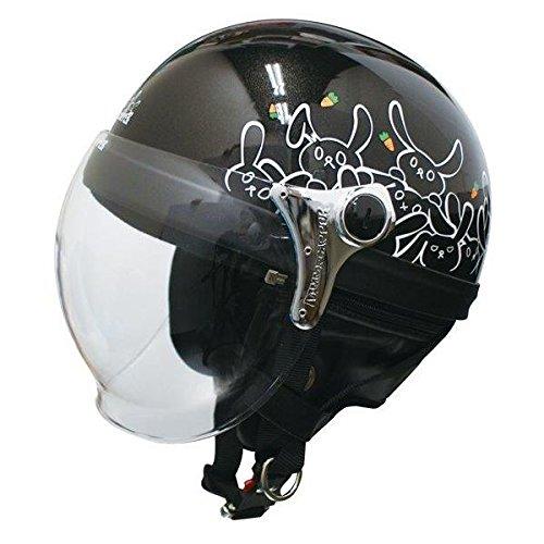 ダムトラックス(DAMMTRAX) ハーフヘルメット CARINA HARF(カリーナハーフ) ブラック/RABBIT レディース(57cm~58cm) 生活用品 インテリア 雑貨 バイク用品 ヘルメット top1-ds-1426233-ak [簡易パッケージ品] B06XZ64FKX