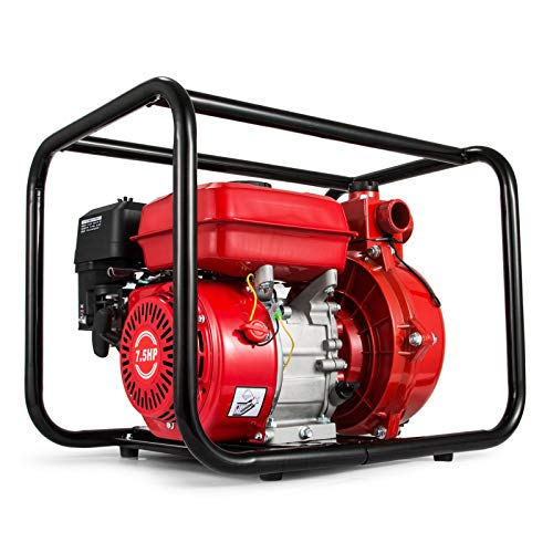 Happybuy Gas-Powered Semi-Trash Water Transfer Pump 2-Inch 7.5 HP Trash Pump 198GPM Gas-Powered Portable Water Pump with 210cc OHV ()