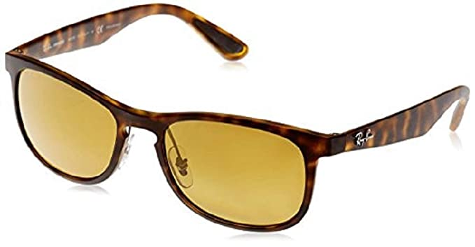 ankommen suche nach dem besten neu billig Ray-Ban Schlüsselloch Wayfarer Sonnenbrille in Matte Havanna Bronze gold  Spiegel polarisiert RB4263 894/A3 55
