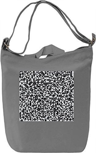 Black and White Pattern Borsa Giornaliera Canvas Canvas Day Bag  100% Premium Cotton Canvas  DTG Printing 