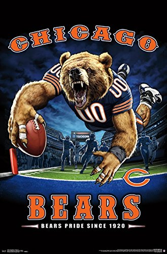 Trends International Wall Poster Chicago Bears End Zone, 22.375