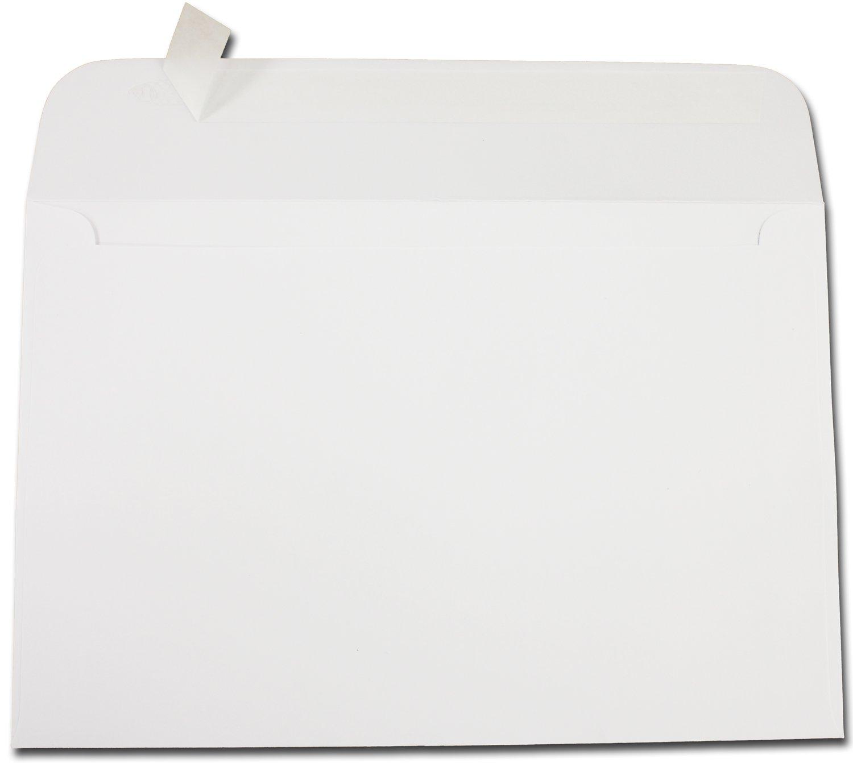 Heavyweight 28lb White 6'' x 9'' Envelopes w/ Self Seal Flap - 100 Envelopes