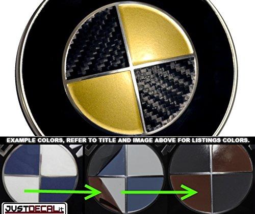 Carbon Fiber Black - Gold Overlay Full SET Fits BMW ()