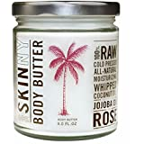 Skinny & Co. Coconut Oil Jojoba Rose Whipped Body Butter 9 Oz Jar