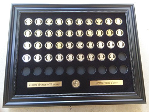 (Tiny Treasures, LLC. Black Display Frame for the $1 Presidential Coins (Not Included))