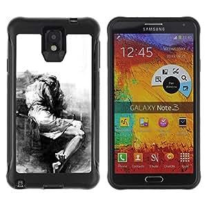 LASTONE PHONE CASE / Suave Silicona Caso Carcasa de Caucho Funda para Samsung Note 3 / Sad Crying Depression Somber Heartbreak
