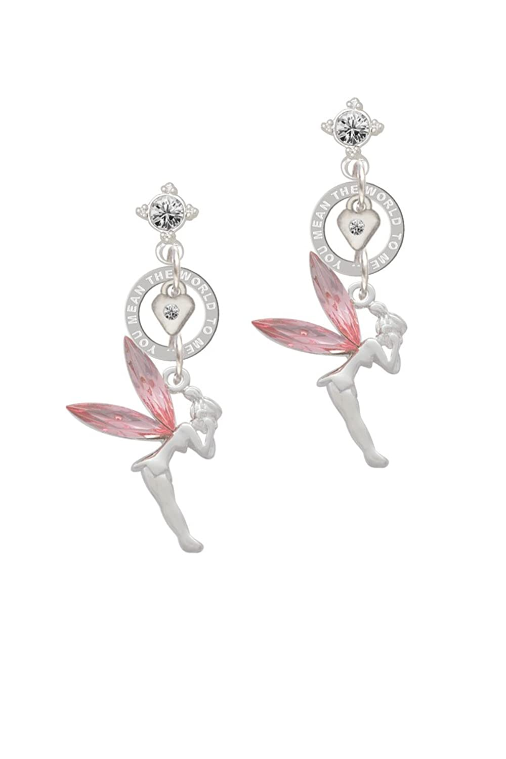 Large Fairy with Crystal Wings - You Mean the World Eternity Earring