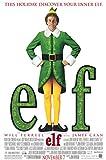 "ELF - 27""x40"" Original Movie Poster One Sheet WILL FERRELL 2003 Christmas"