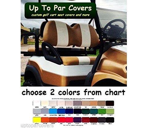 Club Car Precedent Custom 2 Stripe FLAT STRIPES Golf Cart Seat Cover Set