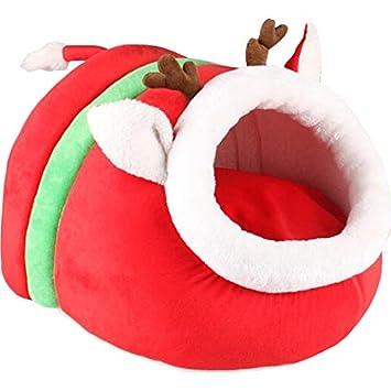 animally® Perros cesta Navidad Gatos cueva Perros hogar Christmas Edition: Amazon.es: Productos para mascotas