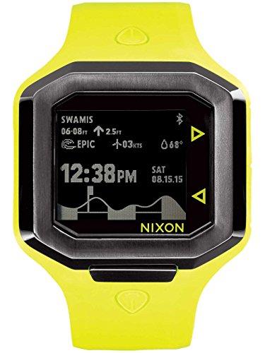 Nixon Unisex Ultratide Surf Watch Neon YellowGunmetal