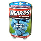 HEAROS Xtreme Ear Plugs - Best in Class Noise Cancelling Disposable Foam Earplugs with NRR 32 Hearing Protection, 14 Pairs