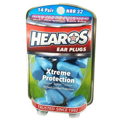 HEAROS Xtreme Protection Noise Cancelling Disposable Foam Earplugs NRR 32 Hearing Protection, 14 Pairs]()