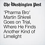 'Pharma Bro' Martin Shkreli Goes on Trial, Where He Finds Another Kind of Limelight   Renae Merle