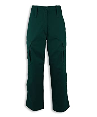 Size: 24 Dark Green Plain Alexandra STC-NF100AG-24R Womens Ambulance Combat Trouser Regular