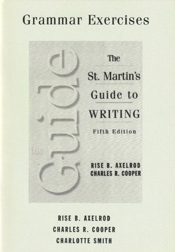The Exercises: The Saint Martin's Guide to writing