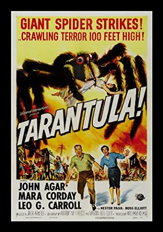 Old Tin Sign Vintage Horror Tarantula Classic Vintage Movie Poster MADE IN THE USA (Classic Scary Movie Posters)