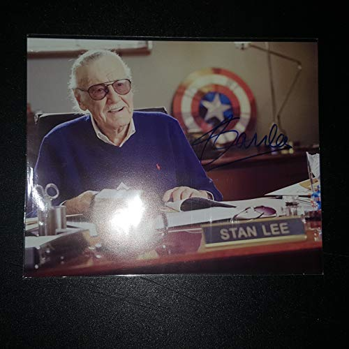 STAN LEE - Autographed Signed 8x10 inch Photograph Poster MARVEL CREATOR COA ()