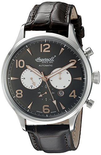 Ingersoll Men's IN1309BK Golden Age Analog Display Automatic Self Wind Brown Watch