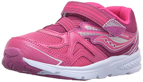 Saucony Baby Ride Sneaker (Toddler/Little Kid), Pink/Berry, 9 M US Toddler