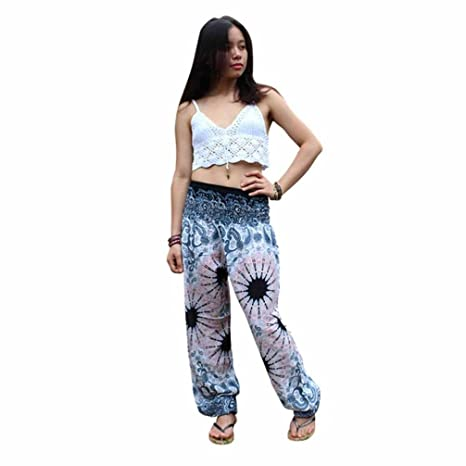 a65f2cbe36dc21 COOKDATE-Pant Fashion Women Casual Summer Loose Yoga Trousers Baggy Boho  Aladdin Jumpsuit Harem Pants HOT ...