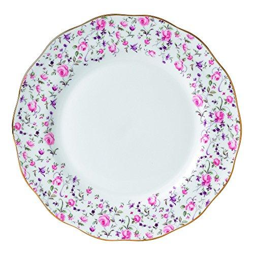 Royal Albert Rose Confetti Vintage Dinner Plate, 10.6