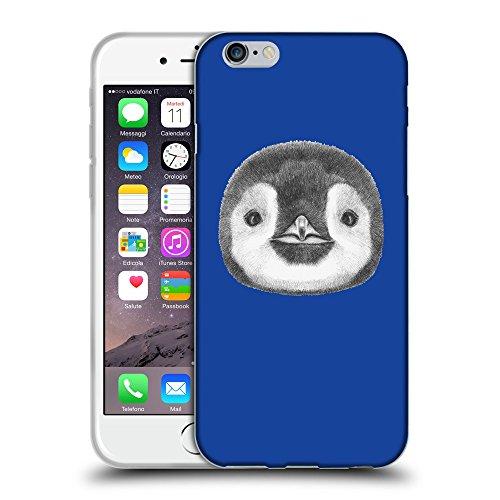 "GoGoMobile Coque de Protection TPU Silicone Case pour // Q05310613 Visage pingouin Bleu // Apple iPhone 6 PLUS 5.5"""